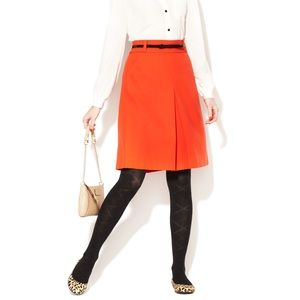 kate spade Mollie Pleated Front Wool Skirt